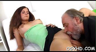 Old dude seize young vagina
