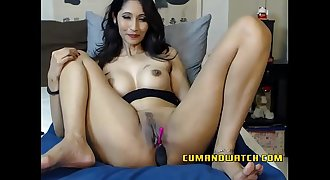 Mature Asian Gags Herself
