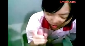 Chinese Teen Hot Blowjob Session