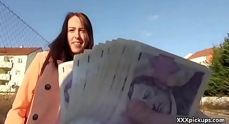 Public Dick Sucking For Cash With Czech Amateur Teenager 11
