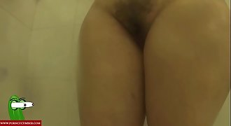 Showering while masturbating pleasantly IV 057