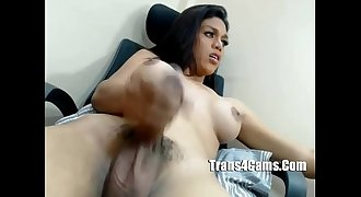 Shemale Cums - www.trans4cams.com