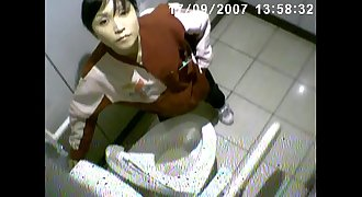Japanese Milf Miwa Bathroom Voyeur-She Finds the Spycam