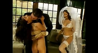The new Bride has fun with her guests