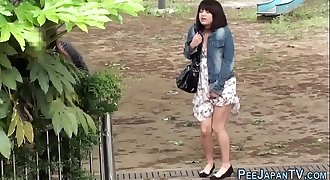 Urinating asians observed